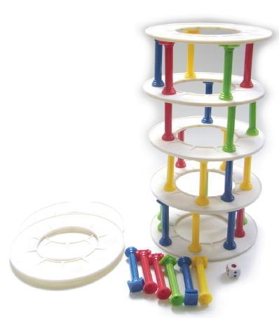 圓柱疊疊樂-腦力激盪桌遊系列