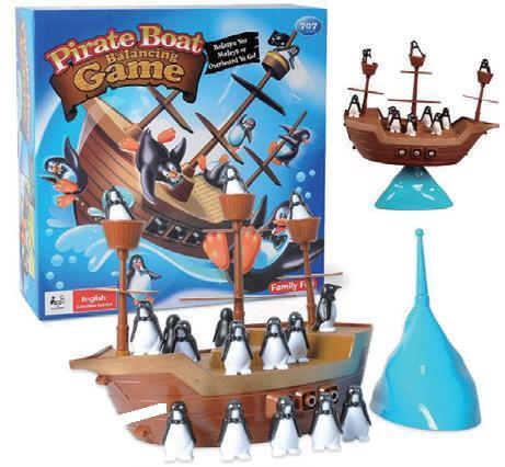 企鵝海盜船平衡遊戲-腦力激盪桌遊系列
