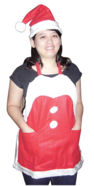 聖誕圍裙+聖誕帽